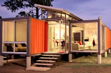 A house made from refurbished shipping container