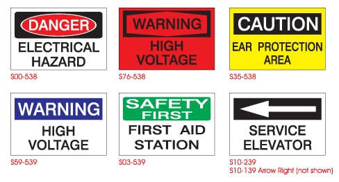 Various Safety Signs And Its Symbols Representation.